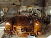 Preziosa replica legno della Mercedes-Benz