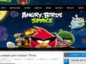 Download Scarica Gratis Angry Birds Space Template Blogger