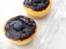 Mini cheesecake ricotta mascarpone mirtilli