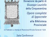 opere Ippocrate alla Biblioteca provinciale Salerno