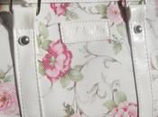 Moda Oasap: Floral Print Padded Handle Cylinder Handbag