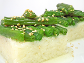 Ginger basmati rice sesame honey green beans sushi