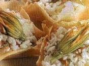 Risotto fiori zucca cestini parmigiano