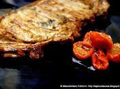 Bistecca sottofiletto alla griglia marinata alle erbette, miele, pomodoriini sottolio forno