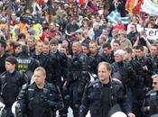 Occupy Frankfurt Police march
