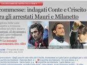 Scommesse: indagati Conte Criscito,tra arrestati capitano della Lazio Mauri Milanetto