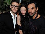 Mariacarla Boscono festeggia Riccardo Tisci Justin Timberlake