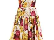 Dolce Gabbana, Red-onion print organza dress