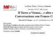 """Turco Vienna… altre cose. Conversazione Franco Cardini"""". Martedì Giugno, Modena"""