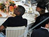 George Clooney Villa D'Este Stacy Keibler cappello testa