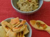 Hummus carciofi biscottini salati fiori zucca