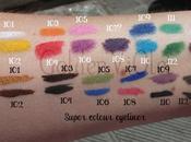 Swatches kajal eyeliners Active Colours collection Kiko
