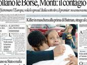 Prime pagine giornali: sabato luglio 2012