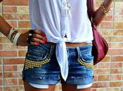 DIY: make studded shorts/ Come realizzare shorts borchie