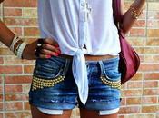 DIY: make studded shorts/ Come realizzare shorts borchie