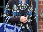 Nicky Hilton: Chunky knit, Balenciaga pony hair ankle boots