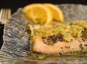ricetta l'estate Filetto trota salmonata salsa aromatica fresca all'arancia, senape menta