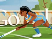 Oggi doodle l'Hockey prato Londra 2012: tifiamo tutti bella Fatima Moreira Melo