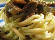 Spaghetti funghi vongole