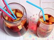 Bevanda dissetante infuso mirtilli, acqua tonica pesche