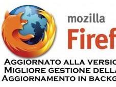Firefox migliorata gestione della aggiornamento background