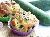 Muffins salati ricotta, zucchine semi girasole