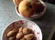 Chocolate amaretti peaches