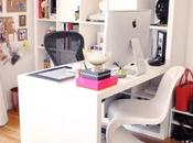 High Home Office White Navy