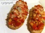 Crostone verdure gorgonzola