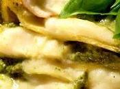 Lasagna pesto zucchine gamberetti