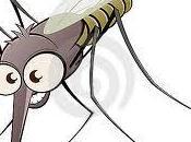 L'uomo parla zanzare