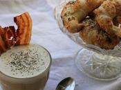 Cappuccino salato croissant parmigiano