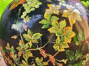 Antico boccione vetro dipinto