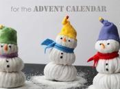 Dentro Calendario dell'Avvento (4): pupazzi neve calzini