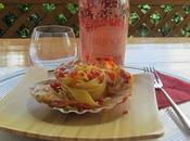 pappardelle capesante patè peperoni