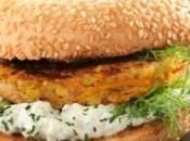 Bagel-burger vegetariano philadelphia