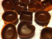Praline ripiene cioccolato fondente panna