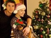 Natale all'insegna della famiglia Liam Hemsworth Miley Cyrus