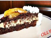 Torta nera orange curd