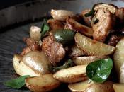 Origano fresco foglie salsiccia, patate novelle olive verdi. Exit poll.