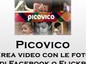 Crea video foto Facebook Flickr grazie Picovico