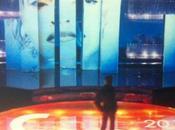 Sanremo 2013, scenografia 63esimo Festival attesa della conferenza stampa oggi
