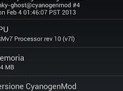 Cyanogenmod: rilasciata CM10.1 Nightly 20130204 Android 4.2.1_r1.2 Jelly Bean JOP40G