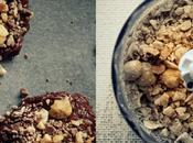 Biscotti fondenti triplo cioccolato nocciole. schiavo.