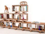 Design sostenibile: libreria bookstack a4adesign