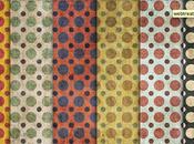 Raccolta Pattern Grunge multicolore motivo geometrico