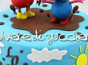 Torta Peppa pozzanghere fango, muddy puddles cake