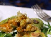 Fiori zucchina fritti farciti filetti rombo tartufo nero