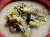 Crema patate tagliatelle saraceno verza