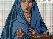 Schema punto croce: Madonna Antonello Messina